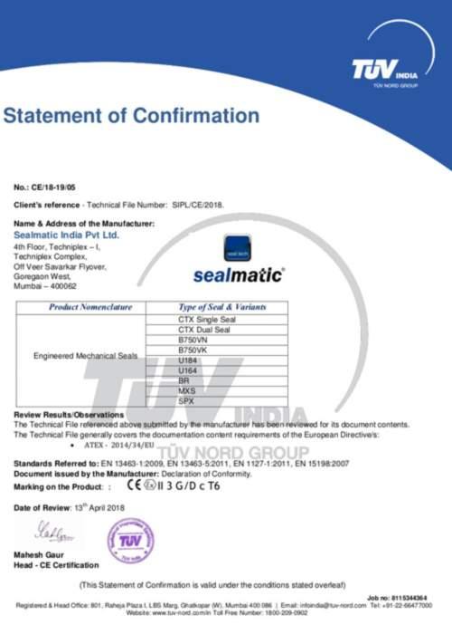 Sealmatic India | Agitator mechanical seals | Mechanical